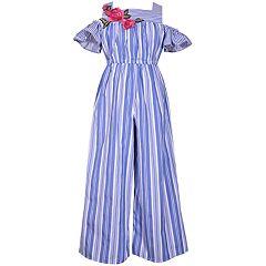 25367ce6cfd Girls 7-16 Bonnie Jean Cold-Shoulder Striped Jumpsuit