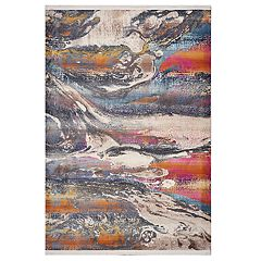 KAS Rugs Papillon Colorful Swirl Rug