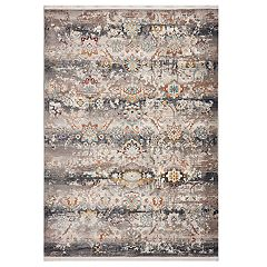 KAS Rugs Papillon Distressed Geometric Rug