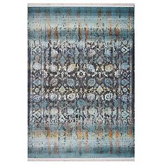 KAS Rugs Papillon Framed Distressed Rug