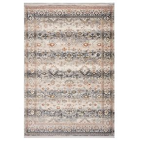KAS Rugs Papillon Distressed Framed Rug