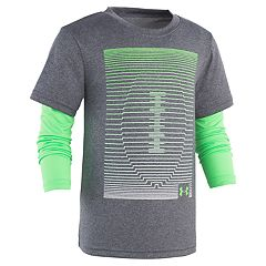 Boys 4-7 Under Armour Linear Football Mock Layer Graphic Tee