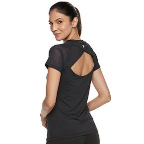 Women's FILA SPORT® Open Back Mesh Short Sleeve Tee