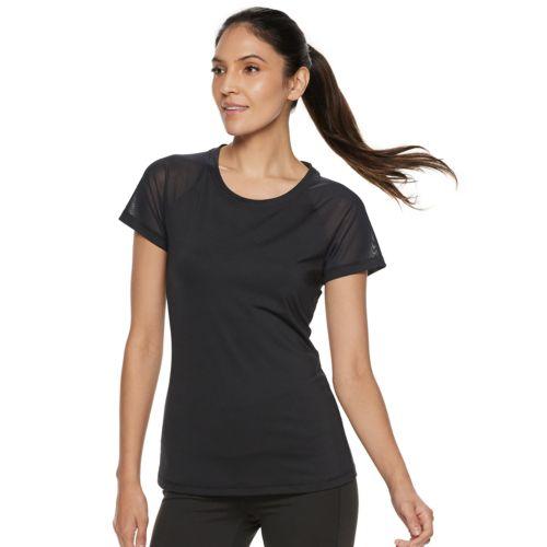 womens-fila-sport-open-back-mesh-short-sleeve-tee by fila-sport