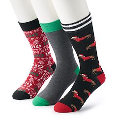 Men's Croft & Barrow® 3-pack Holiday Socks