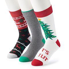 Men's Croft & Barrow® 3-pack Holiday Socks