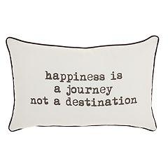 Mina Victory 'Happiness is a Journey' Throw Pillow