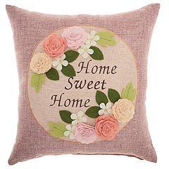 Mina Victory Home Sweet Home Throw Pillow