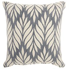 Mina Victory Life Styles Leafy Chevron Throw Pillow