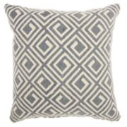Mina Victory Life Styles Greek Key Throw Pillow