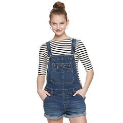 Juniors' Unionbay Relaxed Fit Stretch Denim Shortalls