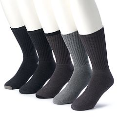 Men's & Big & Tall Croft & Barrow® 5-pack Opticool Solid Crew Socks