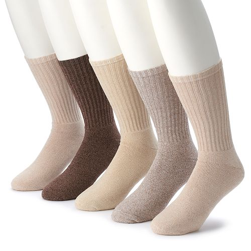 Men's Croft & Barrow® 5-pack Opticool Solid Crew Socks