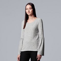 Women's Simply Vera Vera Wang Bell-Sleeve Extra Soft Top