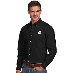 Men's Antigua Michigan State Spartans Dynasty Button Down Shirt