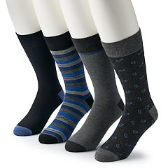 Men's & Big & Tall Croft & Barrow® 4-pack Opticool Patterned & Whale Crew Socks