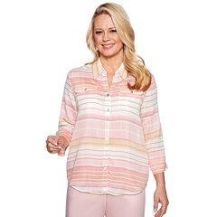 Women's Alfred Dunner Studio Stripe Woven Shirt
