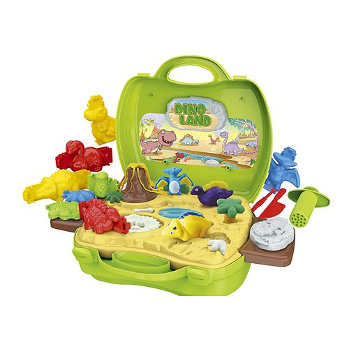 World Tech Toys Activity Dough Dinosaur Suitcase Playset