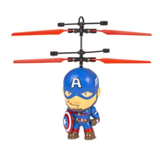 World Tech Toys Marvel Captain America Flying Figure Helicopter