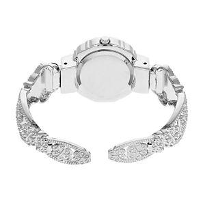 Folio Women's Crystal & Filigree Half-Bangle Watch