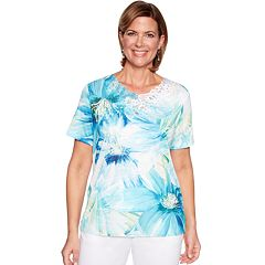 b84c90e2 Women's Alfred Dunner Studio Exploded Floral Knit Top. sale