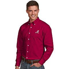 Men's Antigua Alabama Crimson Tide Dynasty Button Down Shirt