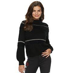 Women's Jennifer Lopez Balloon-Sleeve Mockneck Sweater