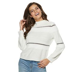Women's Jennifer Lopez Balloon-Sleeve Mockneck Sweater