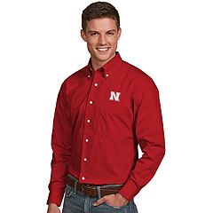 Men's Antigua Nebraska Cornhuskers Dynasty Button Down Shirt