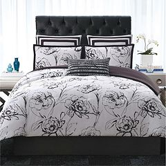 Christian Siriano Graphic Floral Comforter Set