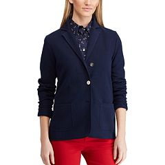 Women's Chaps Notch-Collar Knit Blazer