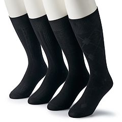 Men's & Big & Tall Croft & Barrow® 4-pack Opticool Patterned Neutral Crew Socks