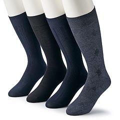 Men's & Big & Tall Croft & Barrow® 4-pack Opticool Patterned Neutral Crew Socks