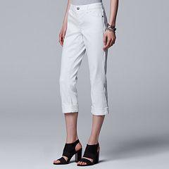 Women's Simply Vera Vera Wang Cuffed Capri Jeans