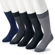 Men's Croft & Barrow® 5-pack Opticool Patterned Crew Socks