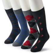 Men's & Big & Tall Croft & Barrow® 4-pack Opticool Patterned & Pepper Crew Socks