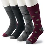Men's Croft & Barrow® 4-pack Opticool Hedgehog Crew Socks