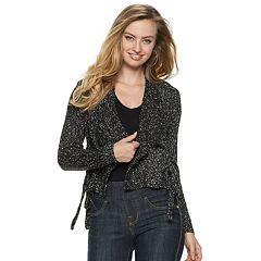 Women's Rock & Republic® Side Lace-up Flyaway Cardigan