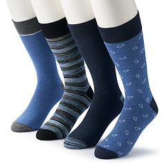 Men's & Big & Tall Croft & Barrow® 4-pack Opticool Whale & Patterned Crew Socks
