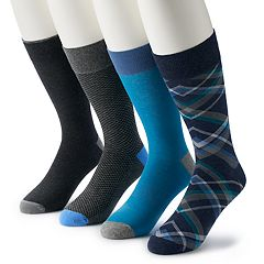 Men's Croft & Barrow® 4-pack Opticool Patterned Crew Socks