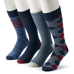 Men's & Big & Tall Croft & Barrow® 4-pack Opticool Patterned Crew Socks