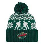 Adult adidas Minnesota Wild Ugly Sweater Beanie