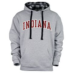 Men's Indiana Hoosiers Benchmark Colorblock Hoodie