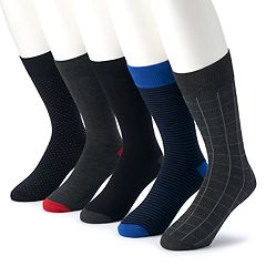 Men's Croft & Barrow® 5-pack Opticool Patterned Marled Crew Socks