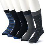Men's Croft & Barrow® 5-pack Opticool Patterned Marled Crew Socks