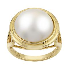 PearLustre by Imperial 14k Gold Mabe Freshwater Cultured Pearl Ring