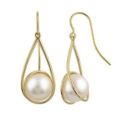 PearLustre by Imperial 14k Gold Freshwater Cultured Pearl Swirl Drop Earrings