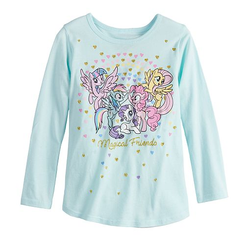 """Toddler Girl Jumping Beans® My Little Pony """"Magical Friends"""" Glittery Graphic Tee"""