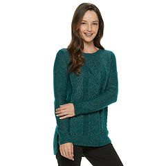 Women's Dana Buchman Cable-Knit Lurex Sweater