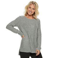 Women's Dana Buchman Cable-Knit Lurex Sweater